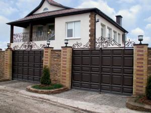распашные ворота в Симферополе, Крыму