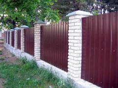 установили забор из профнастила в Симферополе