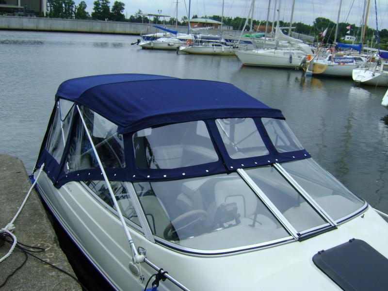 Ходовой тент на лодке - надежная защита